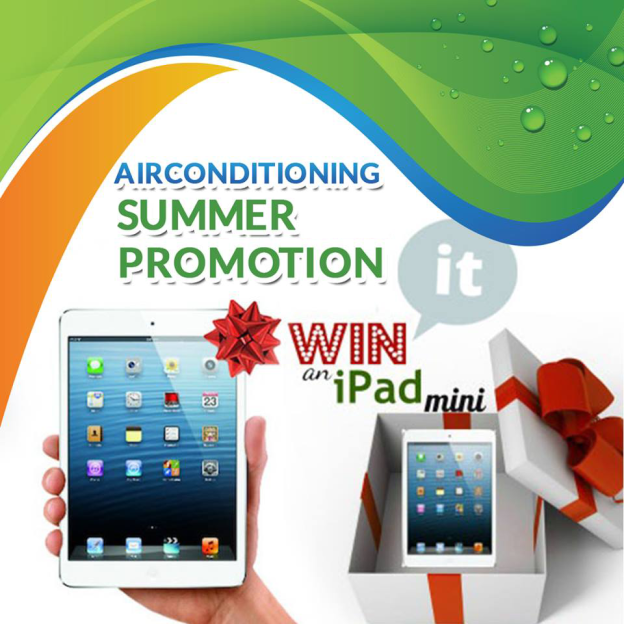 Air Conditioning Summer Promo - Win an iPad Mini